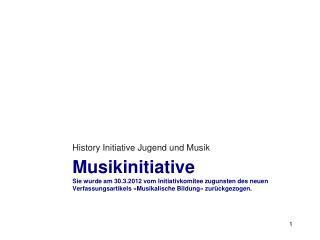 History Initiative Jugend und Musik