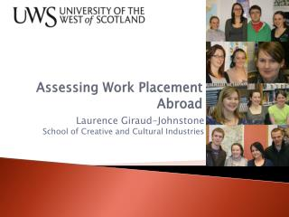 Assessing Work Placement Abroad