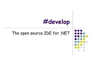 #develop
