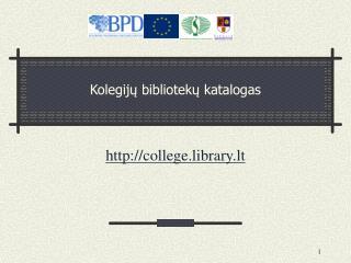 Kolegij ų bibliotekų katalogas