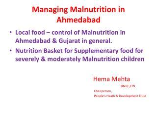 Managing Malnutrition in Ahmedabad