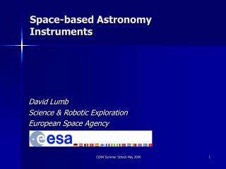 Space-based Astronomy Instruments