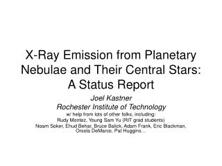 X-Ray Emission from Planetary Nebulae and Their Central Stars: A Status Report