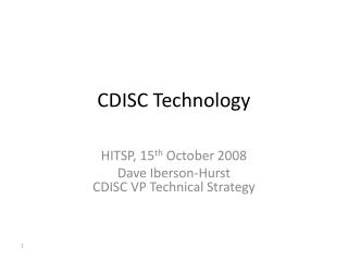 CDISC Technology
