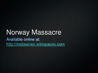 Norway Massacre