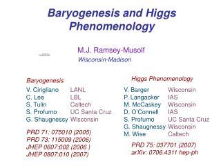 Baryogenesis and Higgs Phenomenology