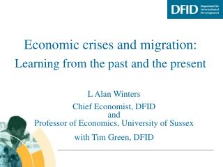 Economic crises and migration:  Learning from the past and the present