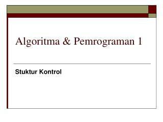 Algoritma & Pemrograman 1