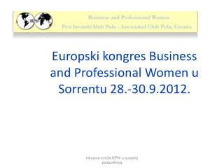 Europski kongres Business and Professional Women u Sorrentu 28.-30.9.2012.