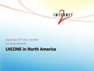LHCONE in North America