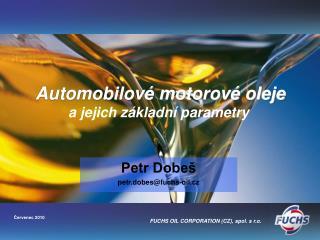 Automobilové motorové oleje a jejich základní parametry