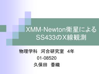 XMM-Newton 衛星による SS433 の X 線観測