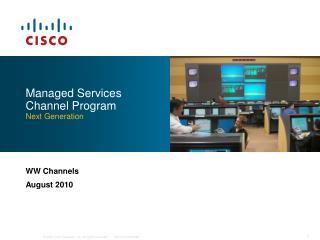 Managed Services Channel Program Next Generation