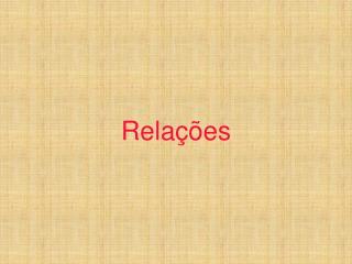 Relações