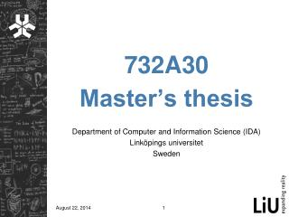 732A30 Master's thesis