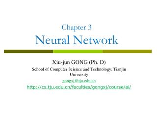 Chapter 3  Neural Network