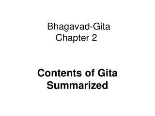 Bhagavad-Gita Chapter 2