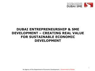 DUBAI SME – An agency of the Department of Economic Development –  Government of Dubai