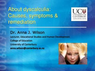 About dyscalculia: Causes, symptoms & remediation