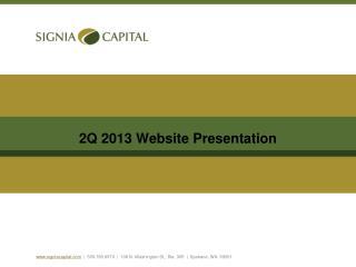 2Q 2013 Website Presentation