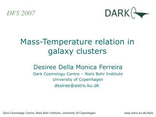 Mass-Temperature relation in galaxy clusters
