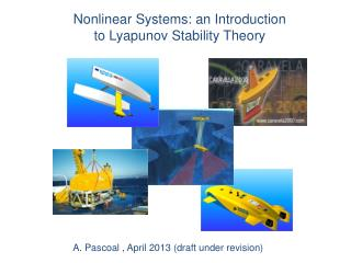 Nonlinear Systems: an Introduction  to  Lyapunov  Stability Theory