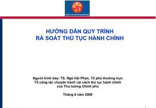 H??NG D?N QUY TR�NH  R� SO�T TH? T?C H�NH CH�NH