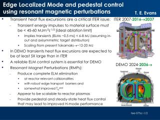 Edge Localized Mode and pedestal control using resonant magnetic perturbations