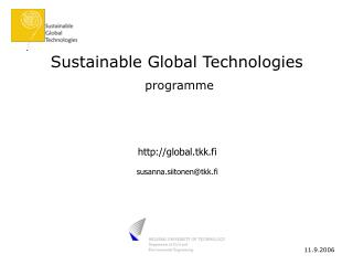 Sustainable Global Technologies programme