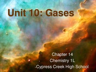 Unit 10: Gases