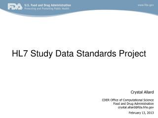HL7 Study Data Standards Project