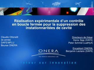 Claudio Ottonelli 2e année DAFE/MFLU Bourse ONERA