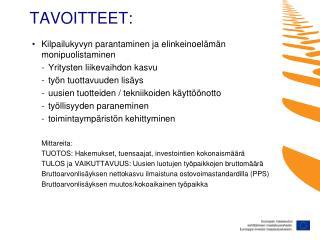 TAVOITTEET: