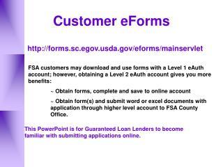 Customer eForms