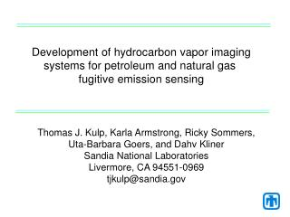Development of hydrocarbon vapor imaging systems for petroleum and natural gas