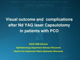 NZOZ ZBM Zdrowie Ophthalmology  Department Bartosz Wieczorek