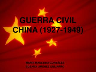 GUERRA CIVIL CHINA (1927-1949)