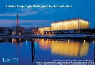 Lahden kaupungin strateginen hankintaohjelma
