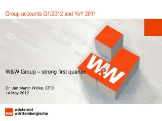 Group accounts Q1/2012 and YoY 2011
