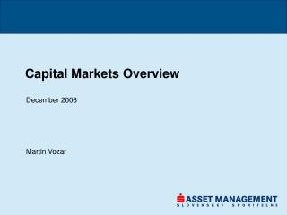 Capital Markets Overview