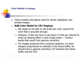 Color Models in Images