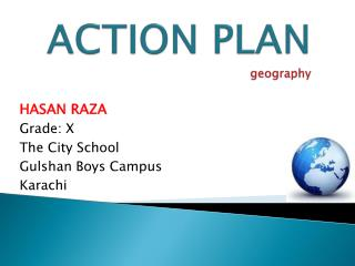 ACTION PLAN geography
