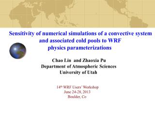 Sensitivity of numerical simulations of a convective system  and associated cold pools to WRF