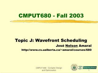 CMPUT680 - Fall 2003