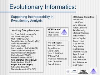 Evolutionary Informatics:
