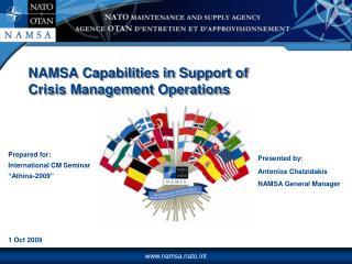 Prepared for: International CM Seminar  Athina-2009       1 Oct 2009
