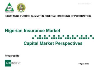 Nigerian Insurance Market      Capital Market Perspectives