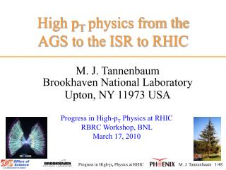 High p T  physics from the AGS to the ISR to RHIC