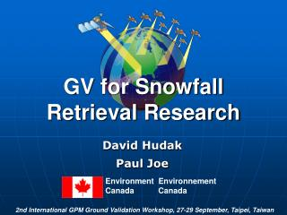 GV for Snowfall Retrieval Research