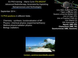 September  2014 : 13  PhD  positions  in  different fields  :